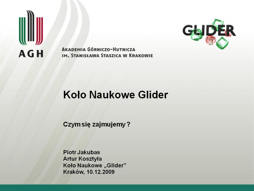 KN Glider prezentacja reklamowa